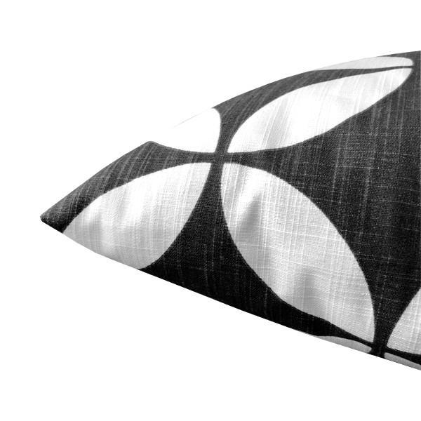 deko kissen schwarz radia anthrazit geometrisch leinenstruktur 50x50. Black Bedroom Furniture Sets. Home Design Ideas