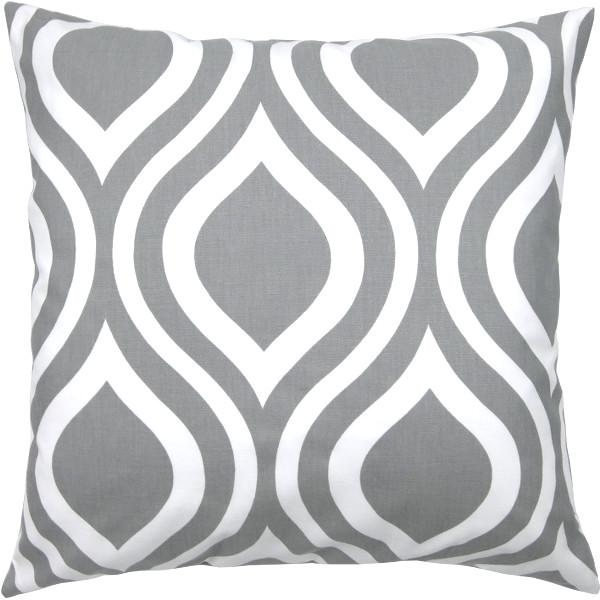 kissenbezug kissen emily grau wei retro 40 x 40 cm. Black Bedroom Furniture Sets. Home Design Ideas