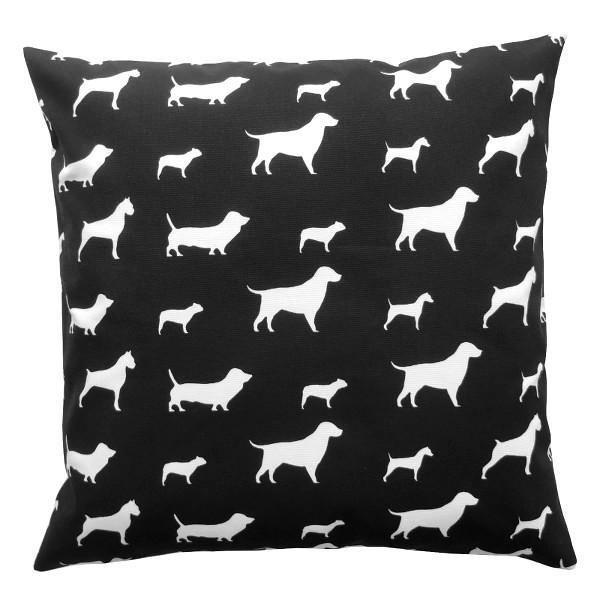 kissenh lle best friends schwarz wei hunde 40 x 40 cm. Black Bedroom Furniture Sets. Home Design Ideas