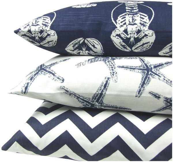 kissenbezug chevron blau marine 50 x 50 cm. Black Bedroom Furniture Sets. Home Design Ideas