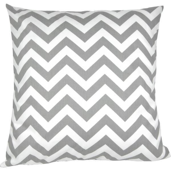 kissenbezug chevron grau wei zickzack gestreift geometrisch 40 x 40 cm. Black Bedroom Furniture Sets. Home Design Ideas