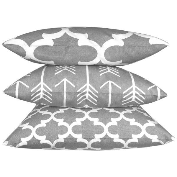 kissenh lle arrow grau wei pfeile 40 x 60 cm. Black Bedroom Furniture Sets. Home Design Ideas