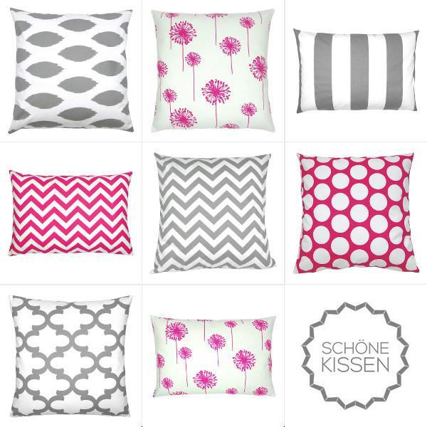 kissen dekokissen sparks grau wei blumen feuerwerksblumen. Black Bedroom Furniture Sets. Home Design Ideas