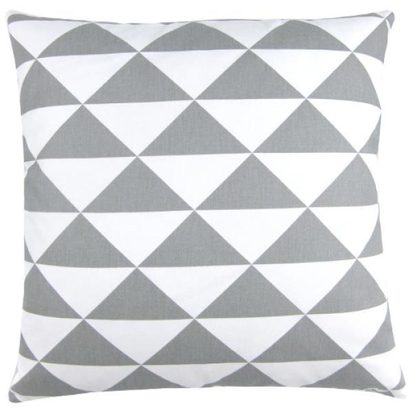 kissenh lle dimensions grau wei dreiecke skandinavisch 40 x 40 cm. Black Bedroom Furniture Sets. Home Design Ideas