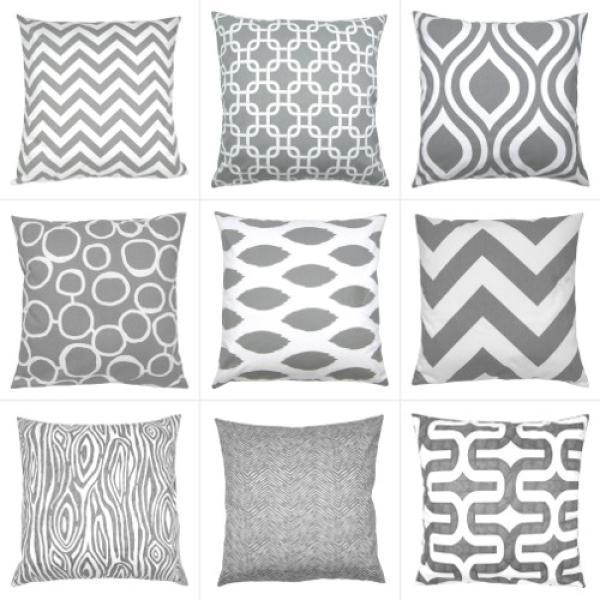 kissenbezug towers grau wei schl sselmuster grafisch 50 x. Black Bedroom Furniture Sets. Home Design Ideas