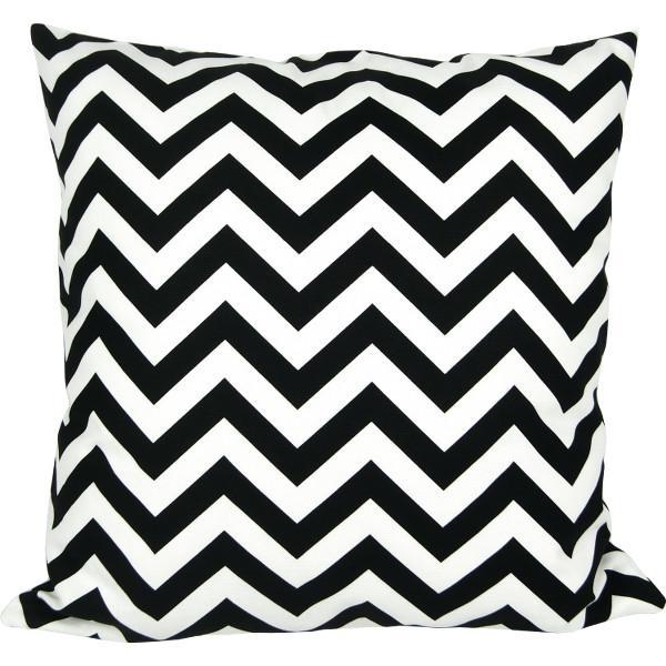 kissenh lle chevron schwarz wei zickzack 40 x 40 cm. Black Bedroom Furniture Sets. Home Design Ideas