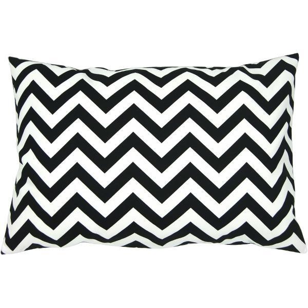 kissenh lle chevron schwarz wei zickzack streifen 30 x 50 cm. Black Bedroom Furniture Sets. Home Design Ideas
