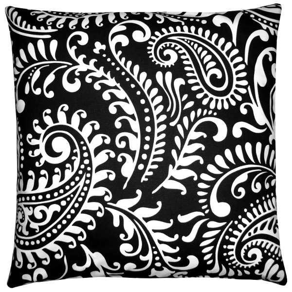 kissenh lle walker schwarz wei klassisch stylisch paisley 60 x 60 cm. Black Bedroom Furniture Sets. Home Design Ideas