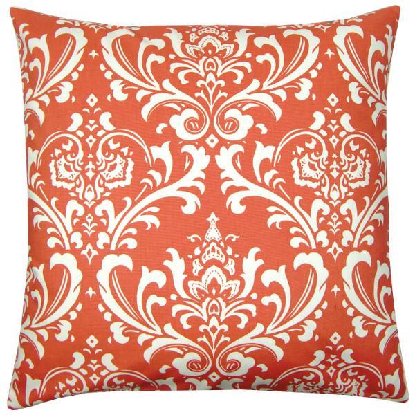 Kisenhlle Mit Barockem Muster In Korall Rot Weiss 60 X Cm
