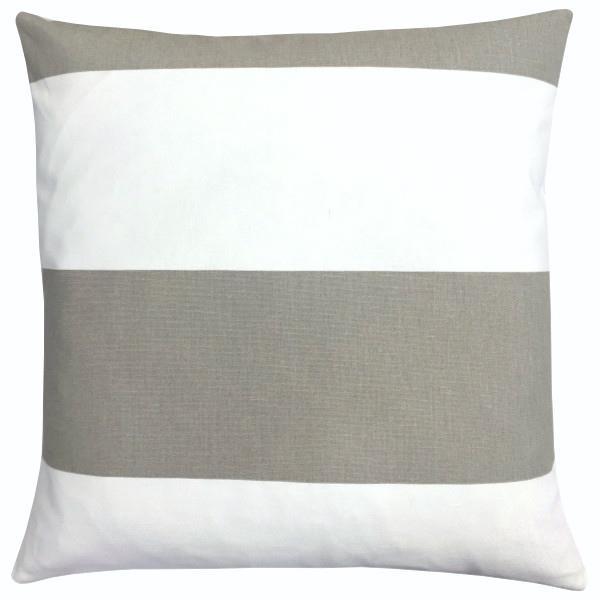 kisenbezug cabana sand wei hamptons skandinavisch streifen 40 x 40 cm. Black Bedroom Furniture Sets. Home Design Ideas