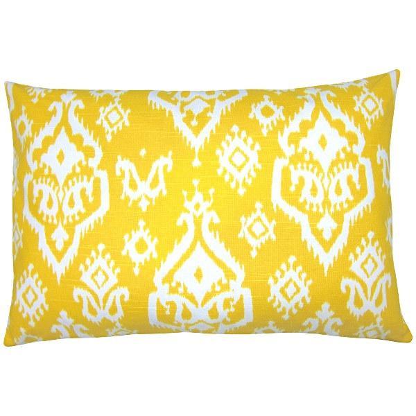 kissenh lle raji ikat gelb wei leinenoptik 40 x 60 cm. Black Bedroom Furniture Sets. Home Design Ideas