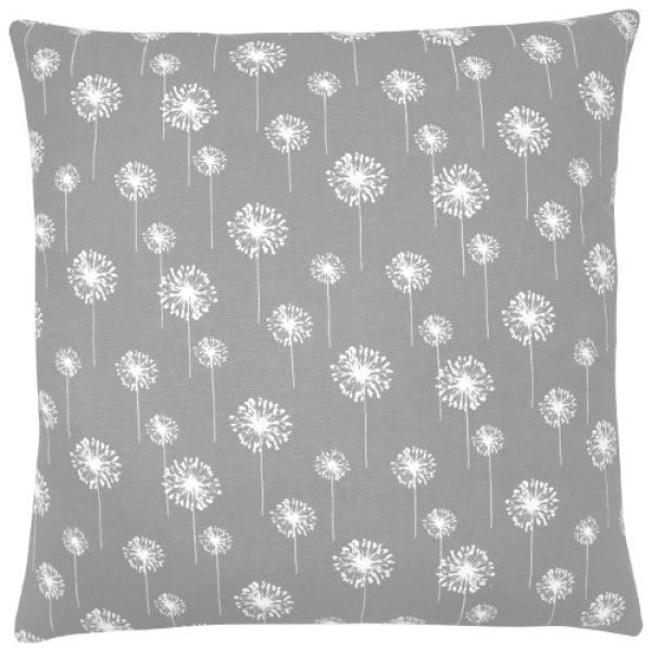 kissenbezug dandelion grau wei pusteblume blumen 50 x 50 cm. Black Bedroom Furniture Sets. Home Design Ideas