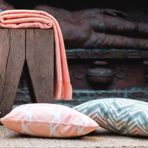 kissenh lle jace apricot wei retro geometrisch 40 x 40 cm. Black Bedroom Furniture Sets. Home Design Ideas