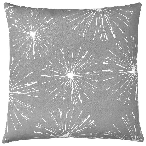 kissenh lle sparks grau wei blumen 50 x 50 cm. Black Bedroom Furniture Sets. Home Design Ideas