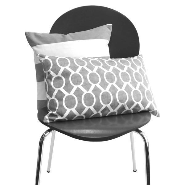 1 kissenbezug kissen sydney grau wei grafisch batikdruck. Black Bedroom Furniture Sets. Home Design Ideas
