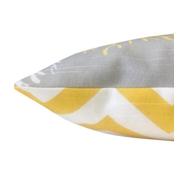 1 wendekissen h lle isadella grau gelb korallen leinenstruktur 40 x 40. Black Bedroom Furniture Sets. Home Design Ideas