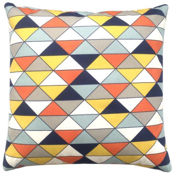 kissenbezug dekokissen dimensions natur gelb blau landhausstil dreiecke dreiecksmuster grafisch. Black Bedroom Furniture Sets. Home Design Ideas