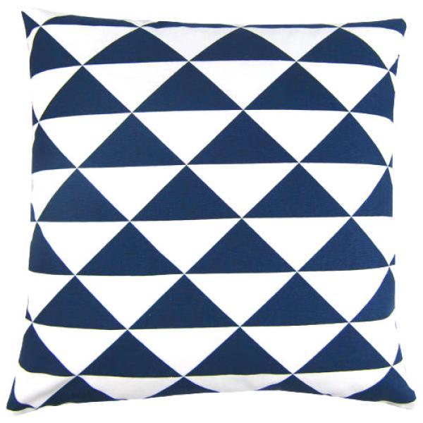 kissenbezug dimensions blau indigo wei dreiecke 60 x 60 cm. Black Bedroom Furniture Sets. Home Design Ideas