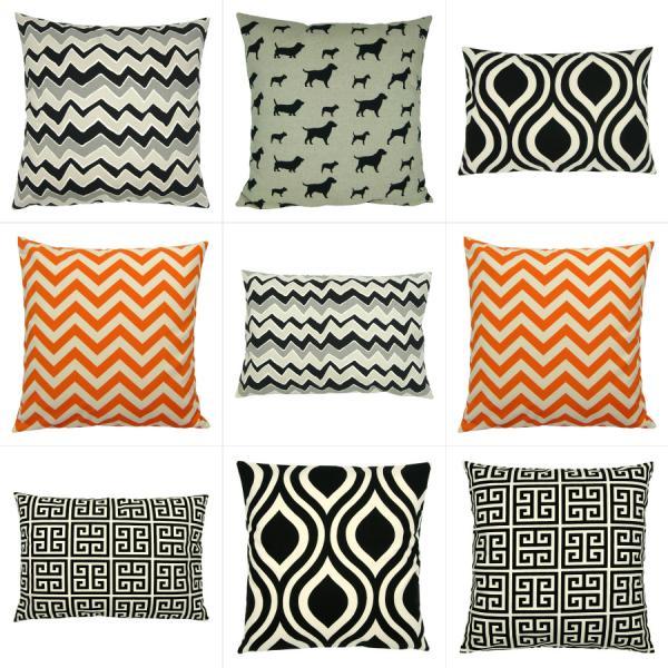 kissen kombination schwarz grau natur 40 x 40 cm. Black Bedroom Furniture Sets. Home Design Ideas