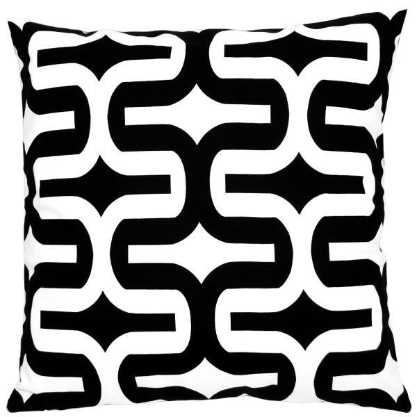 kissenh lle embrace schwarz wei geometrisch 40 x 40 cm. Black Bedroom Furniture Sets. Home Design Ideas