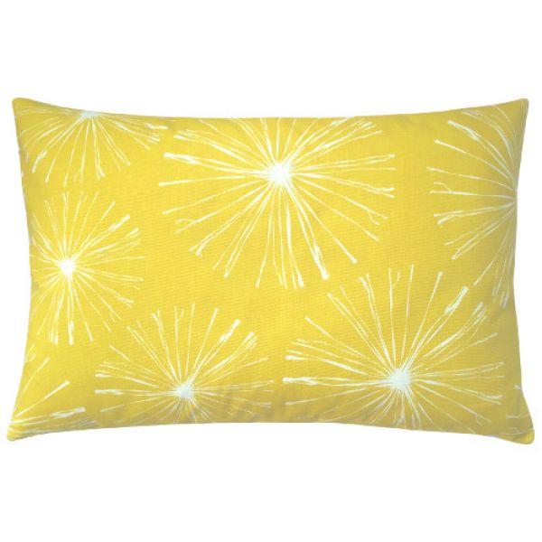 kissen sparks gelb zitronengelb wei blumen 40 x 60 cm. Black Bedroom Furniture Sets. Home Design Ideas
