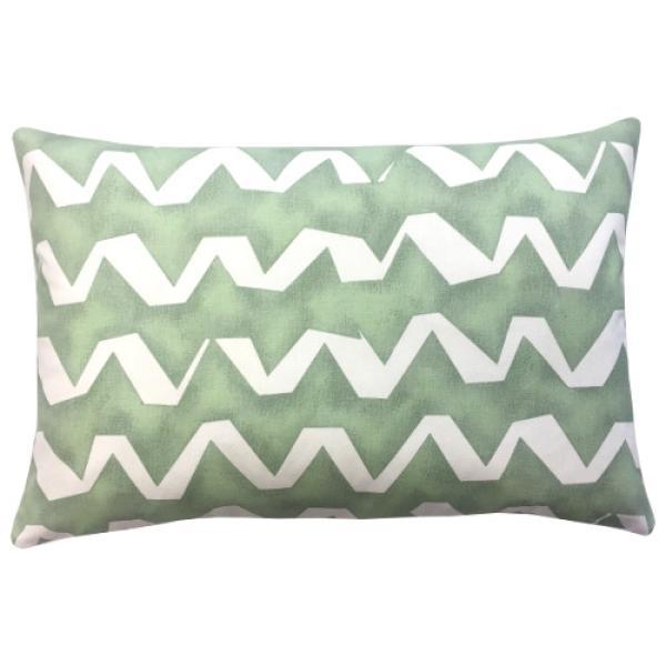 kissenbezug strike gr n wei zickzack streifen 40 x 60 cm. Black Bedroom Furniture Sets. Home Design Ideas