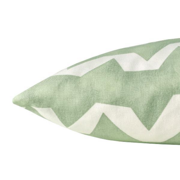kissenbezug strike gr n wei streifen zickzack wellen 40 x 40 cm. Black Bedroom Furniture Sets. Home Design Ideas